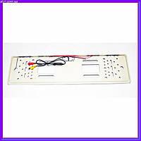 Камера заднего вида в рамке автомобильного номера с LED подсветкой Серая, фото 1