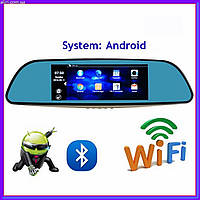 "Зеркало регистратор, 7"" сенсор, 2 камеры, Sim карта, GPS навигатор, WiFI, Android, фото 1"