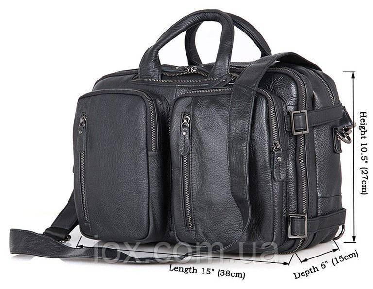 45545f125edf Сумка мужская Vintage 14058 Черная, Черный: продажа, цена в Киеве ...