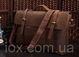 Портфель Vintage 14063 в винтажном стиле Коричневый, Коричневый
