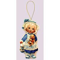 Набор для изготовления игрушки из фетра для вышивки бисером ТМ Батерфляй Кукла. Англия БФ F042