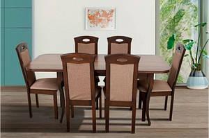 Кухонный комплект: стол и 4 стула -Мартин. Массив дерева.
