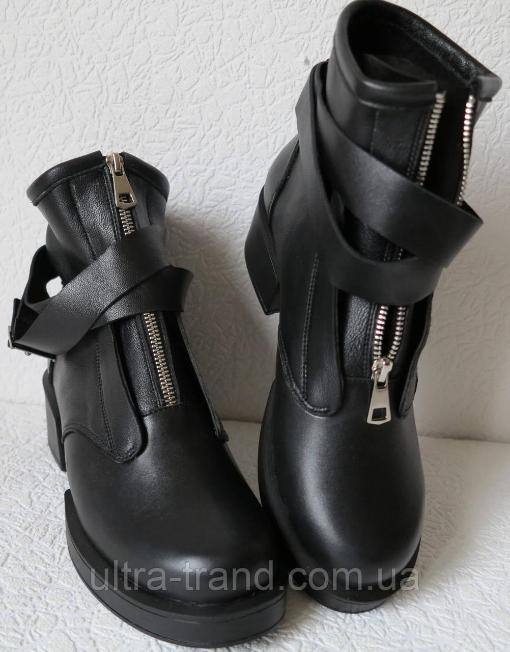 Balenciaga!! Ботинки кожа! Женские с ремешками сверху,  на змейке в стиле Баленсиага.