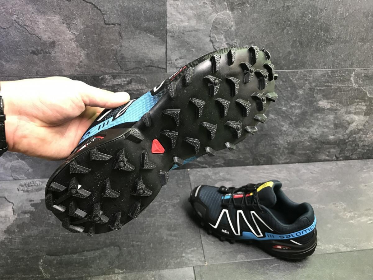 ... фото Мужские кроссовки весенние темно синие с голубым Salomon  Speedcross 3 7084 (реплика) 460d19b723f57