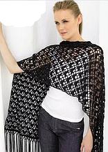Подборка схем для вязания шали или палантина