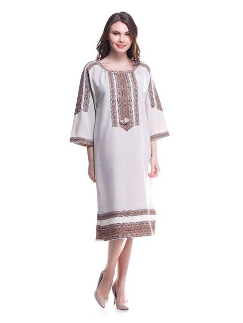 """Платье женское """"Этнос"""" льняное длинное"""