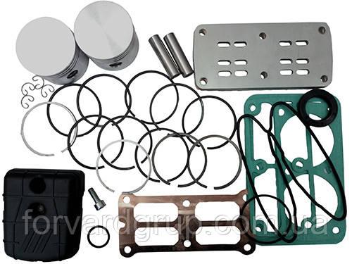 Рем. комплект для компрессора AB500-912-380 (фильтр, клапанная плита, н-р прокладок, н-р поршней HP и LP, н-р поршневых колец HP и LP, предохранительн