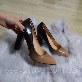 Туфлі жіночі лакові на каблуку. Тільки 39 розмір!  продажа 5f0300566dca9