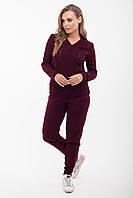 Женский вязаный бордовый костюм джемпер и брюки Мыс 2 ТМ Ashra 42-48 размеры