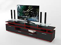 Тумба для ТВ Cinema чорна/кромка червона