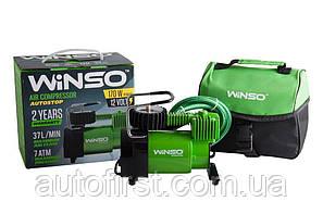 WINSO Компрессор автомобильний 7 Атм, 37 л/м. 170Вт, кабель 3м., шланг 1м.