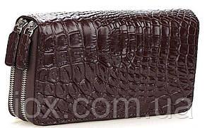 Кошелек-клатч CROCODILE LEATHER 18260 из натуральной кожи крокодила Коричневый, Коричневый