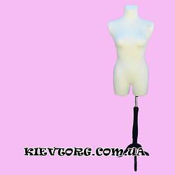 Манекен портновский женский торс брючный белый для пошива одежды, ателье, торгового магазина