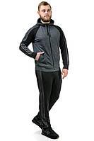 Мужской трикотажный спортивный костюм 033 серый