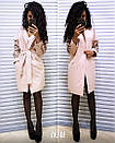 Пальто кашемировое с ажурными прорезями на рукавах, фото 6