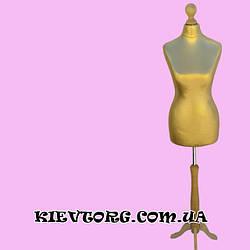 Манекен портновский женский полуторс на деревянной треноге для пошива одежды, витрины магазина