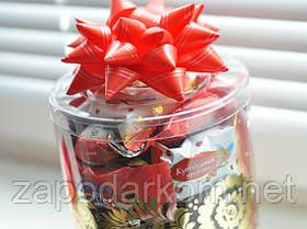 Смачний солодкий подарунок в тубусі, 670г