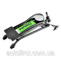 WINSO Насос ножной с манометром, цилиндир 55*120мм.шланг 60см.,в компл.3 адаптера