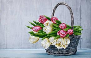 Букет тюльпанов. Набор для вышивания бисером. MINIART CRAFTS 11003