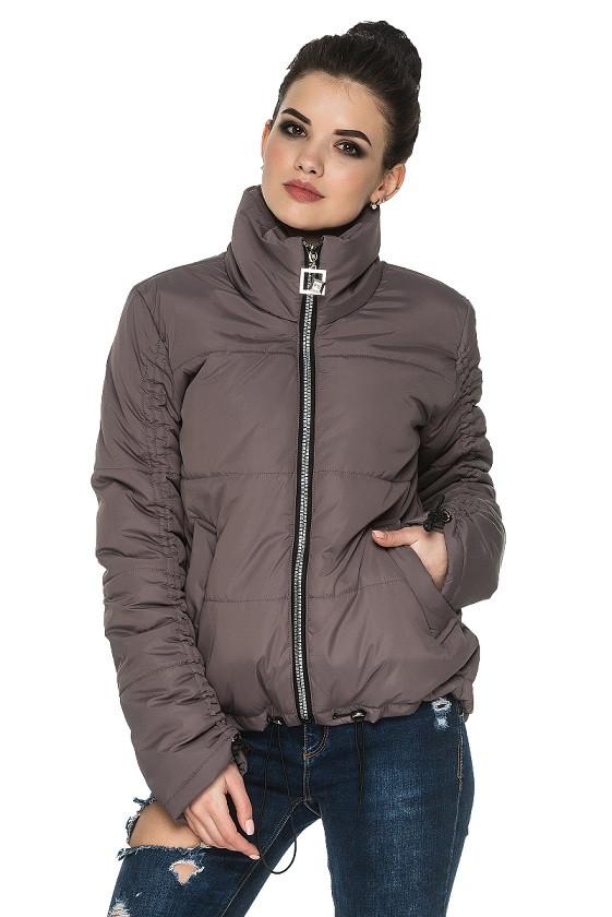 Модная женская куртка осень-весна Гера мокко (44-54)