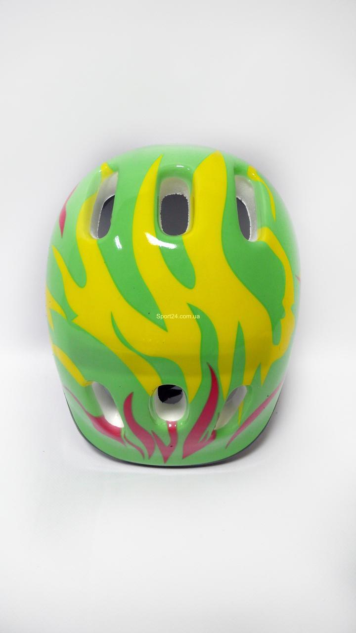 Защитный шлем для детей Салатовый огонь