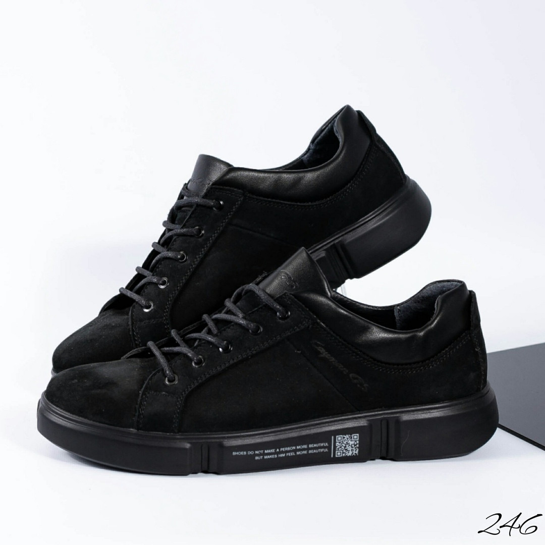 3b4872c6 Мужские повседневные кроссовки черные,натуральная замша.: продажа ...