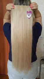 Прямые волосы на заколках искусственные термо