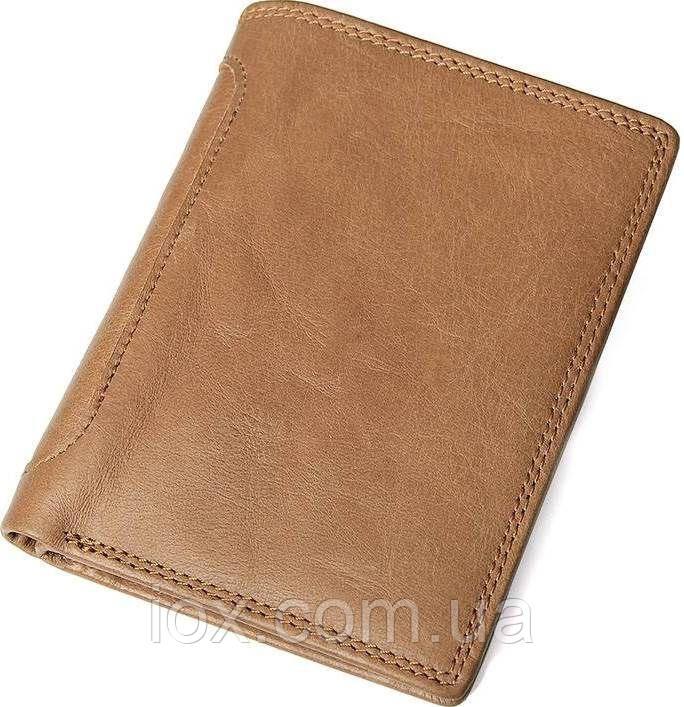 7e4be60f7df0 Портмоне мужское Vintage 14533 из натуральной кожи Коричневое, Коричневый