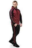 Мужской трикотажный спортивный костюм 033 бордо
