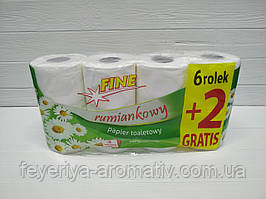 Туалетная бумага 3-слойная Fine rumiankowy 8шт (Польша)
