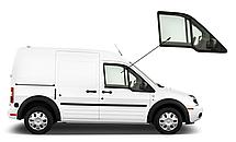 Боковое стекло Ford Connect 2002-2013 опускное правое