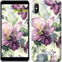 """Чехол на Xiaomi Redmi S2 Цветы акварелью """"2237u-1494-4848"""""""