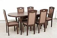 Кухонный комплект: стол и 4 стула -Оливер. Массив дерева.