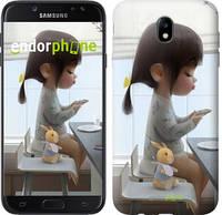 """Чехол на Samsung Galaxy J7 J730 (2017) Милая девочка с зайчиком """"4039c-786-4848"""""""
