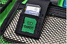 "Сумка органайзер для проводов USB- кабелей ""Хаки Синий"", фото 4"