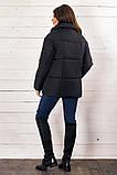 Красивая женская короткая куртка утеплитель силикон  42-48р.(4 расцв.), фото 4