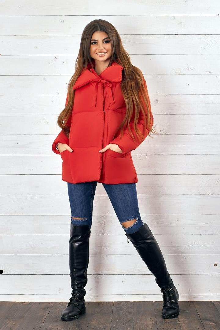 Красивая женская короткая куртка утеплитель силикон  42-48р.(4 расцв.)