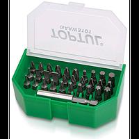 """Набор бит 1/4"""" SL;PH;PZ;TORX;HEX +магнитный держатель  31ед.  TOPTUL GAAW3101"""