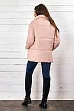 Красивая женская короткая куртка утеплитель силикон  42-48р.(4 расцв.), фото 6