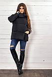 Красивая женская короткая куртка утеплитель силикон  42-48р.(4 расцв.), фото 5