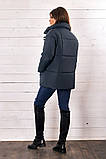 Красивая женская короткая куртка утеплитель силикон  42-48р.(4 расцв.), фото 7