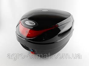Кофр для мотоцикла (багажник) HF-805 чорний глянець