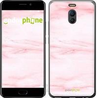 "Чехол на Meizu M6 Note розовый мрамор ""3860c-1108-4848"""