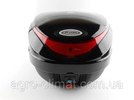 Кофр для мотоцикла (багажник) HF-805 чорний глянець, фото 2