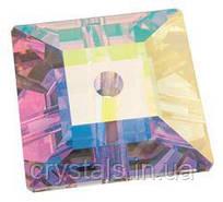 Пришивные хрустальные квадраты Preciosa (Чехия) 6х6 мм Crystal AB