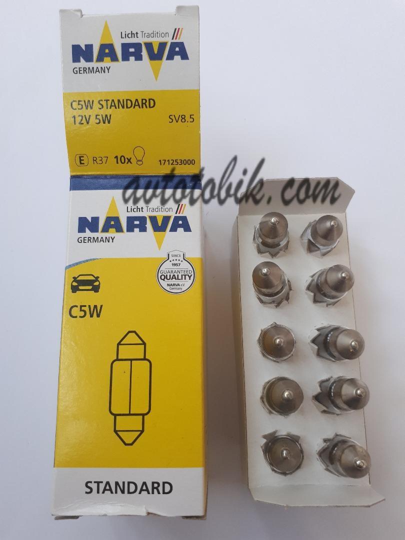 Лампа накаливания NARVA C5W Standart 12V 5W (1 шт.)