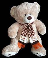 Очаровательная мягкая игрушка Мишка 68 см в шарфе плюшевый медведь коричневый