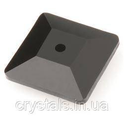 Пришивные хрустальные квадраты Preciosa (Чехия) 6х6 мм Jet