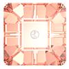 Пришивные хрустальные квадраты Preciosa (Чехия) 8х8 мм Crystal Apricot
