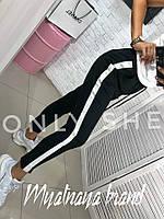 Укороченные штаны с лампасами, штаны легенсы. Размеры 42, 44, 46, 48., фото 1